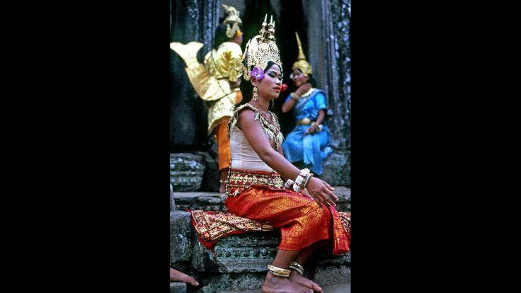 L.A. Times reader Russ Furnas snapped this photo of a dancer at Angkor Thom in Seam Reap, Cambodia.