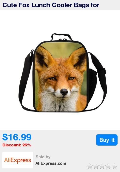 Cute Fox Lunch Cooler Bags for Children Animal Pattern Insulated Lunch Bags for Girls Personalized Lunch Container for Kids Boys * Pub Date: 06:52 Sep 20 2017