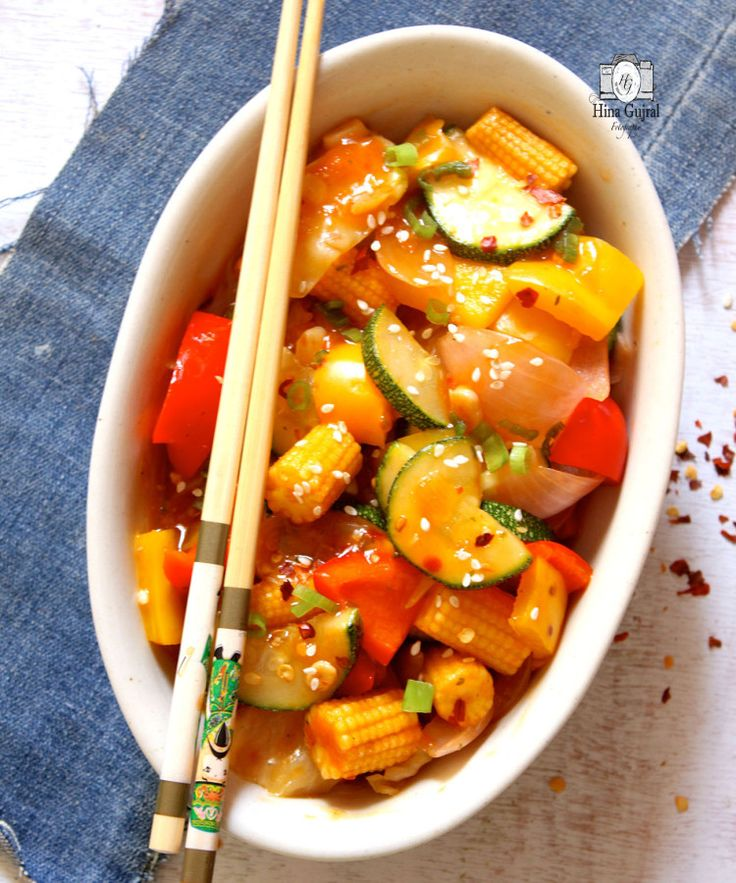 Thai Stir fried Vegetable Recipe is a quick mixed vegetable stir fry in the thai red curry spices, healthy to eat. Perfect for busy weeknight dinner. funfoodfrolic.com