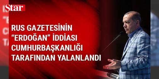 Rus gazetesinin Erdoğan iddiası Cumhurbaşkanlığı tarafından yalanlandı: Cumhurbaşkanı Recep Tayyip Erdoğan'ın Harran'da Suriyeli sığınmacıların kaldığı bir kampı ziyaret etmesi ardından Rus İzvestiya gazetesine konuştuğu iddia edilmişti. Erdoğan'ın Suriye'nin kuzeyinde bir Kürt devleti kurulmasına izin vermeyeceklerini belirtip 'en ufak bir tehdit karşısında bile' burada yeni bir askeri operasyon düzenlemeye hazır olduklarını söylediği iddia edilmişti.    CUMHURBAŞKANLIĞI YALANLADI   Ancak…