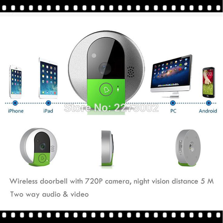 New Mini Wireless Doorbell Camera WiFi Door Intercom Peehole Night Vision wi-fi IP Video Door Camera Bell Phone For IOS Android