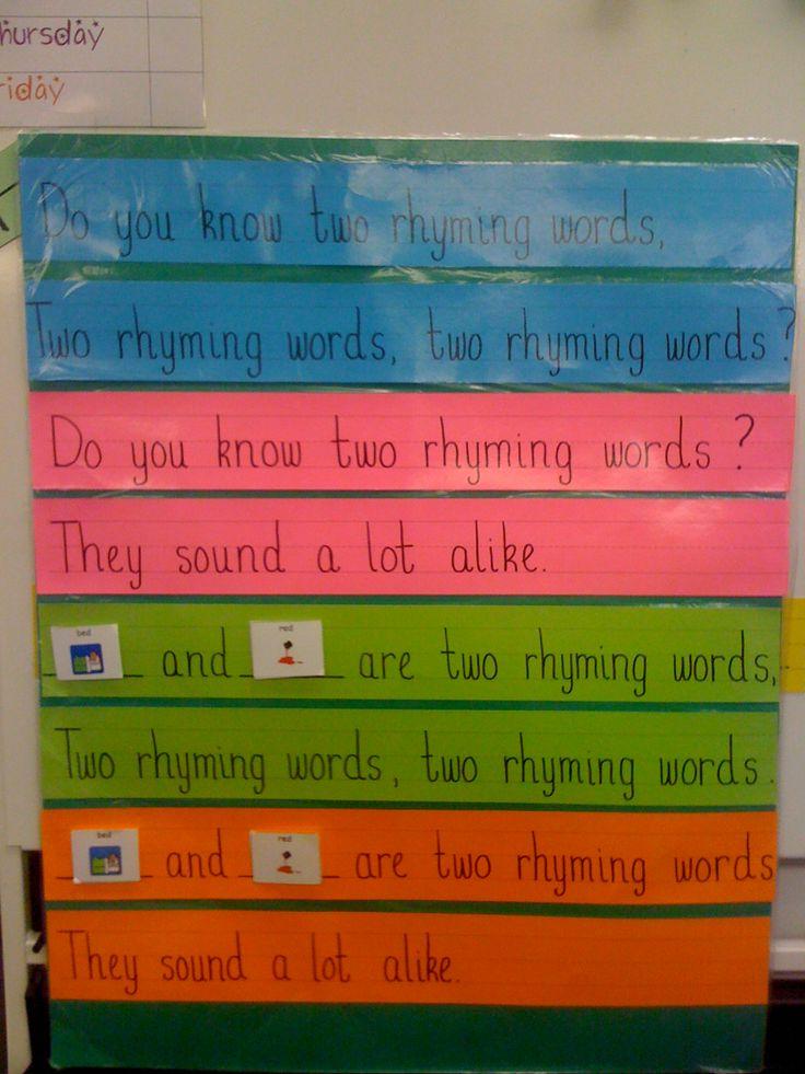 49 best Rhyming Words Kindergarten images on Pinterest | Preschool ...