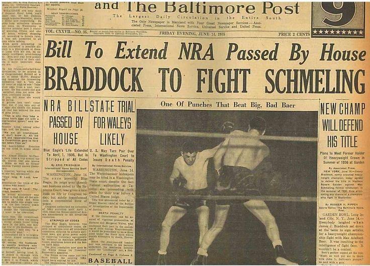 Jimmy Braddock Beats Max Baer Next Schmeling. Heavyweight Boxing June 14 1935 B4