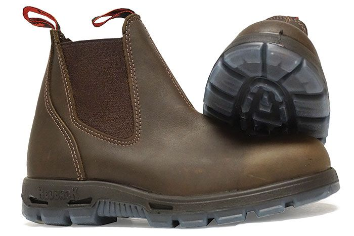 My Redback boots are the first pair of farm shoes to last more than one season. Easy to pull on—no laces!—these kicks are engineered to repel water. Plus,