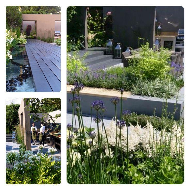 Contemporary kitchen garden at Hampton court flower show 2013 Design by Paul Martin