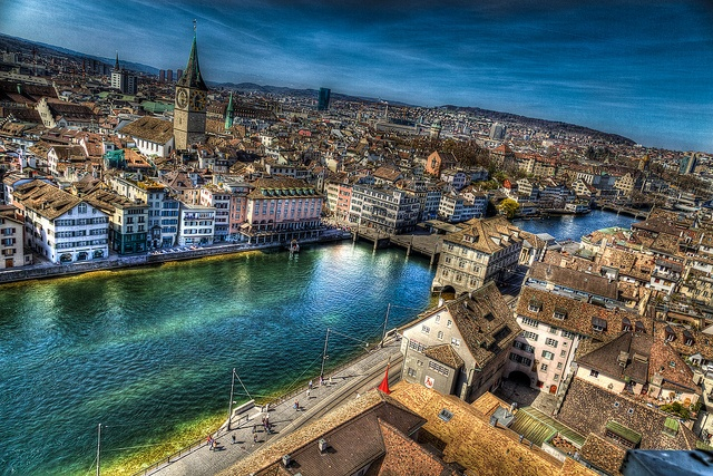 Zurich, Switzerland (via Flickr) --- Both times I flew to Switzerland, I arrived at the Zurich Airport around 10 am (on a Swiss Air flight that left the Atlanta, GA, Airport around 8:00 pm the previous night).