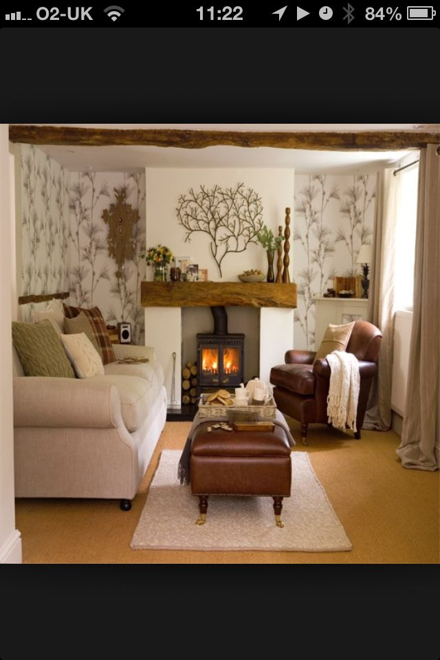 Snug room - two big sofas, tv and fireplace, all that is needed.