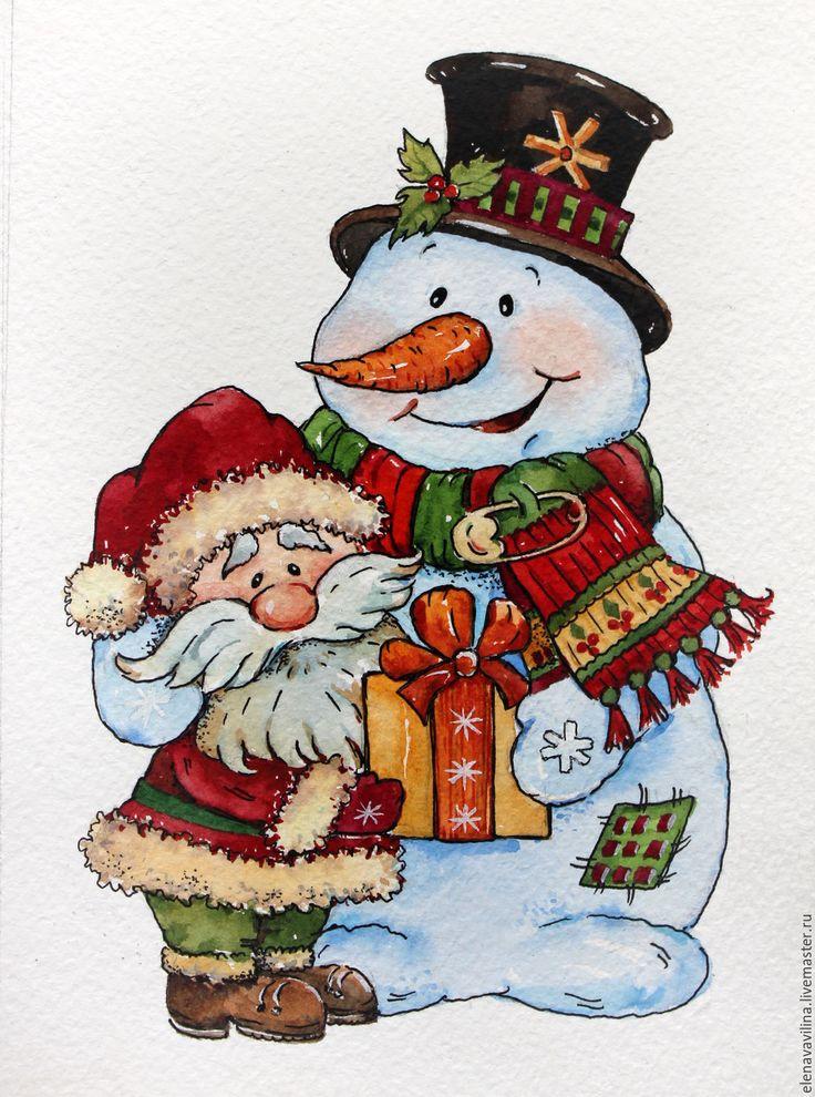 Рождественские снеговики открытки, поздравлениями днем рождения