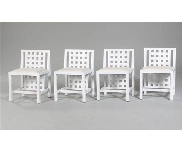 TIL SALG BILLIGT!!! Spisebordsstol, Hvidlaseret asketræ, sæde med hvidt læder
