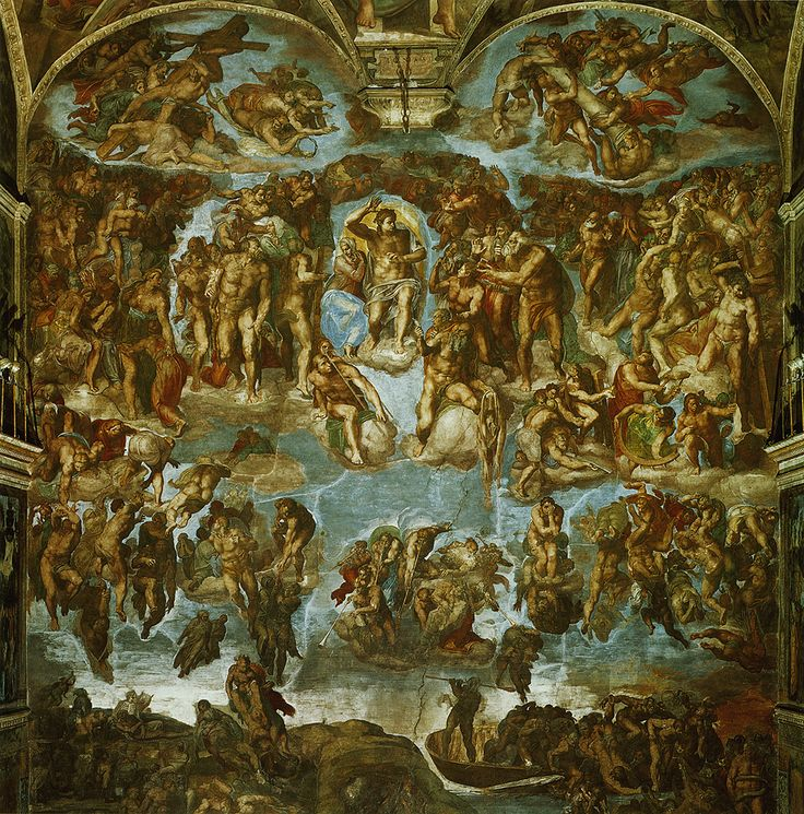 The Last Judgement by Michaelangelo- in the Sistine Chapel