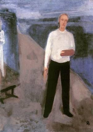 Aurél Bernáth ,self portrait.