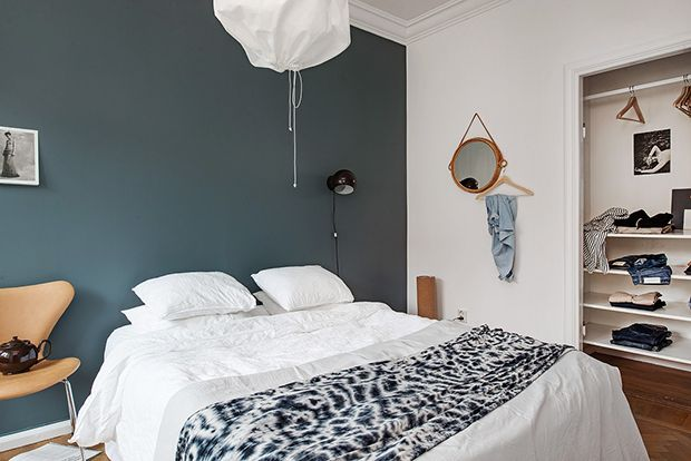 Sovrum blå färg
