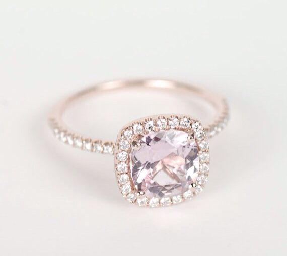 Perfect Pink Sapphire Engagement Ring