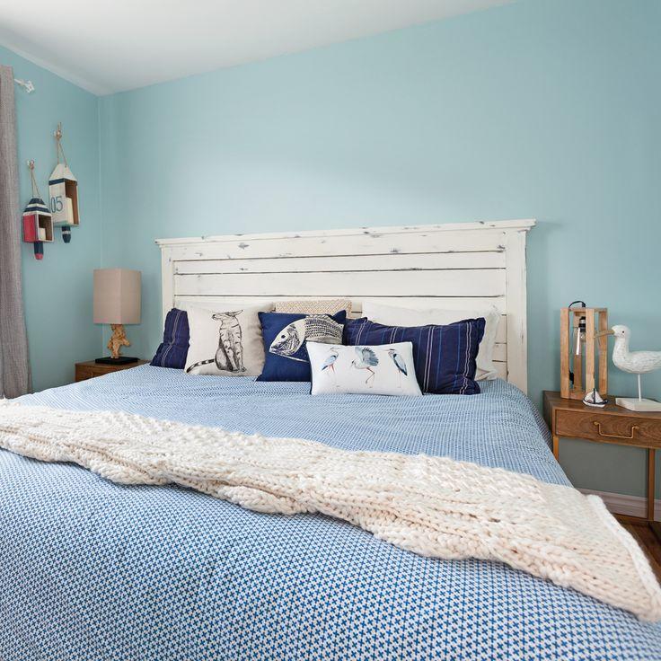 Une chambre au style bord de mer - Chambre - Inspirations - Décoration et rénovation - Pratico Pratique