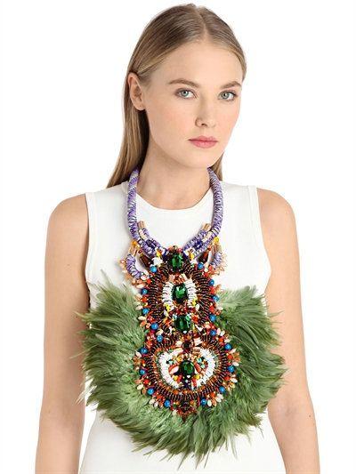 Allura Feather neckpiece by Anita Quansah London