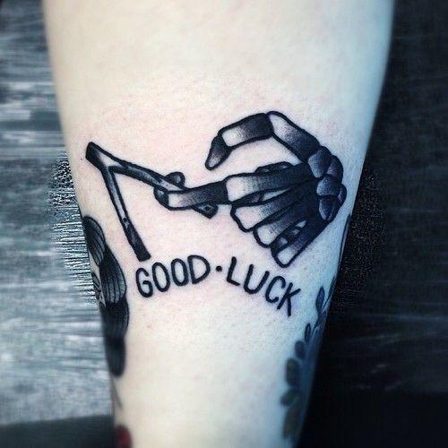 ☠ neo traditional good luck skull tattoo ☠