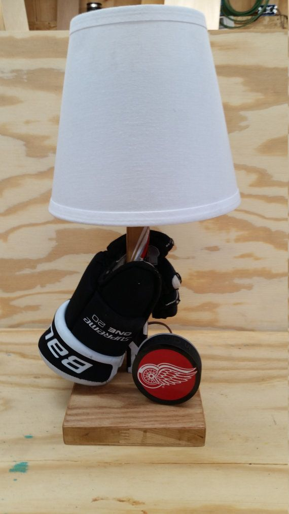 Personalized Hockey Lamp by ManShedCreations on Etsy