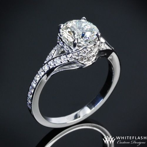 Pave Wrap Diamond Engagement Ring Houston Diamond Jewelry