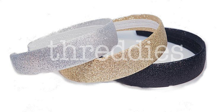 glitter headbands / alice bands / one of each color  by threddies, $6.00