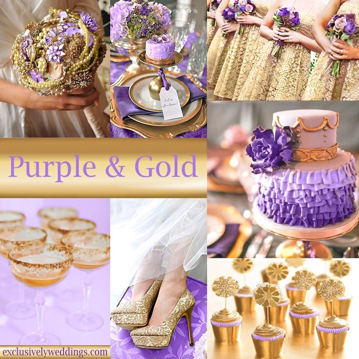 57 best purple and gold wedding images on Pinterest | Purple wedding ...