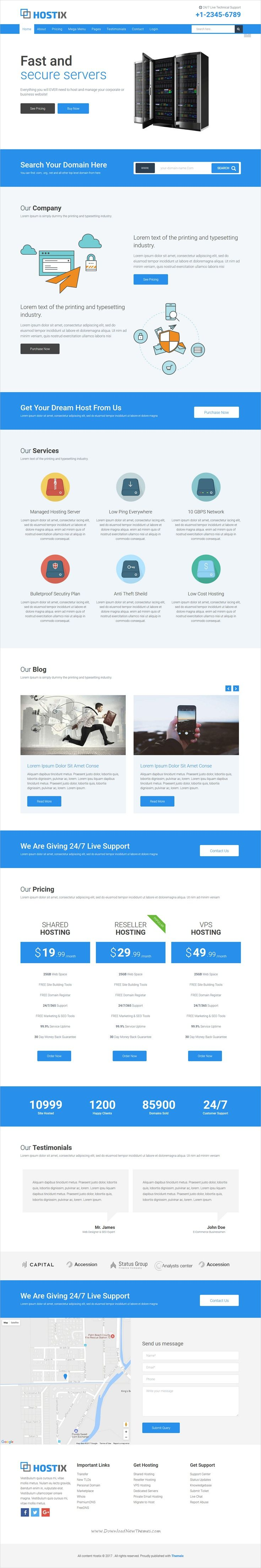 Hostix is a clean and elegant design responsive HTML5 #bootstrap template for web #hosting and #domain business website download now➩ https://themeforest.net/item/hostix-responsive-parallax-hosting-website-html5-template/19747783?ref=Datasata