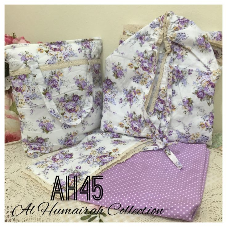 Al Humaira Telekung Cotton – AH45  RM150.00  – Telekung cotton with printed design  – Special vintage style design  – Japanese cotton material  – Face size up to L size  – Set includes beautiful handmade bag & mini sajaddah  – Limited pieces  http://www.telekung.co/product/ah45/