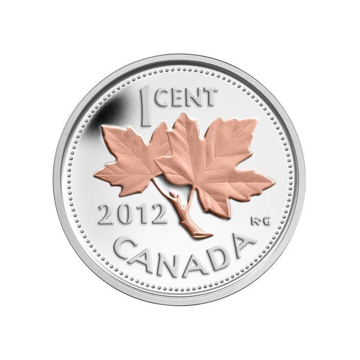 Pièce de 1/2 oz en argent fin - Adieu à la pièce de un cent (2012)