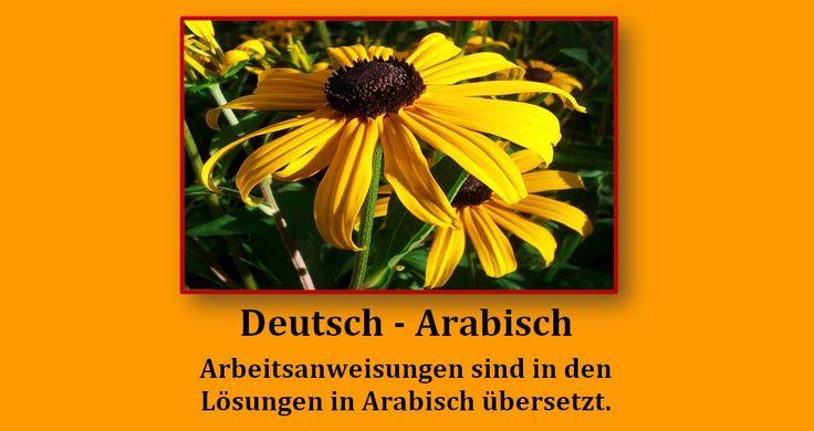 1000+ Bilder zu Arbeitsblu00e4tter Deutsch Arabisch auf Pinterest