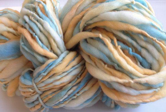 Thin Yarn Crochet : Handspun Yarn Thick and Thin NEW DAWN bulky merino crochet, knitting ...