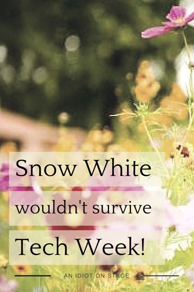 Snow White wouldn't survive tech week. Read this article on the Idiot's blog.