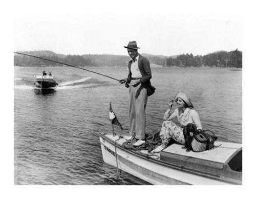 784 best images about historic antique fishing photos on for Lake arrowhead fishing