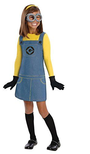 Female Minion Costume - The jumper is made of 100% polyester. The shape of the jumper is an A line and the length of the jumper ends just above the knees so it's an easy costume to walk around in.  For more information visit http://costumesforhalloweenideas.blogspot.com