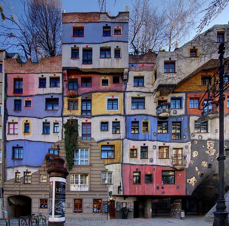 Hundertwasserhaus Wien Austria.