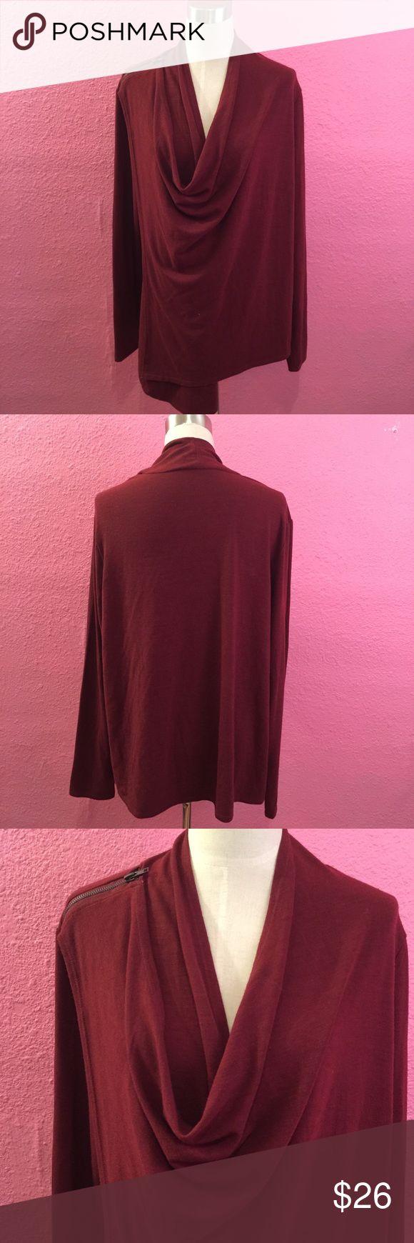 Draped light weight jacket sweater Draped light weight jacket sweater. Maroon. wine Nancy O Dell Tops Sweatshirts & Hoodies