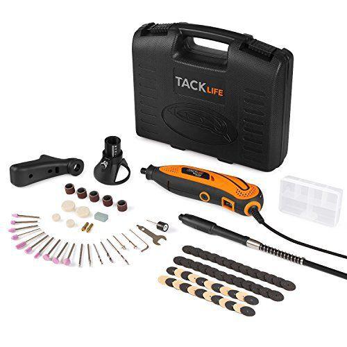 Tacklife RTD35ACL Avancé Outil Rotatif Electrique /Sculpter /Découper /Polir /Contrôle de Profondeur /80 Accessoires /3 Attachements…