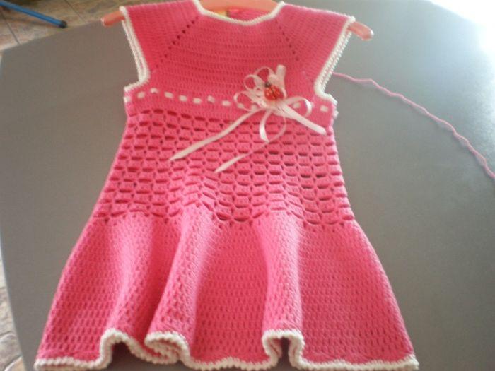 Cotton Crochet Children's Dress