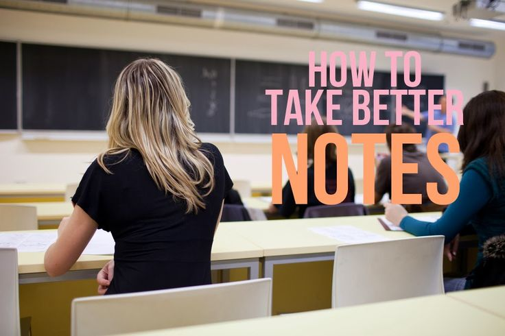 How to take better notes in class