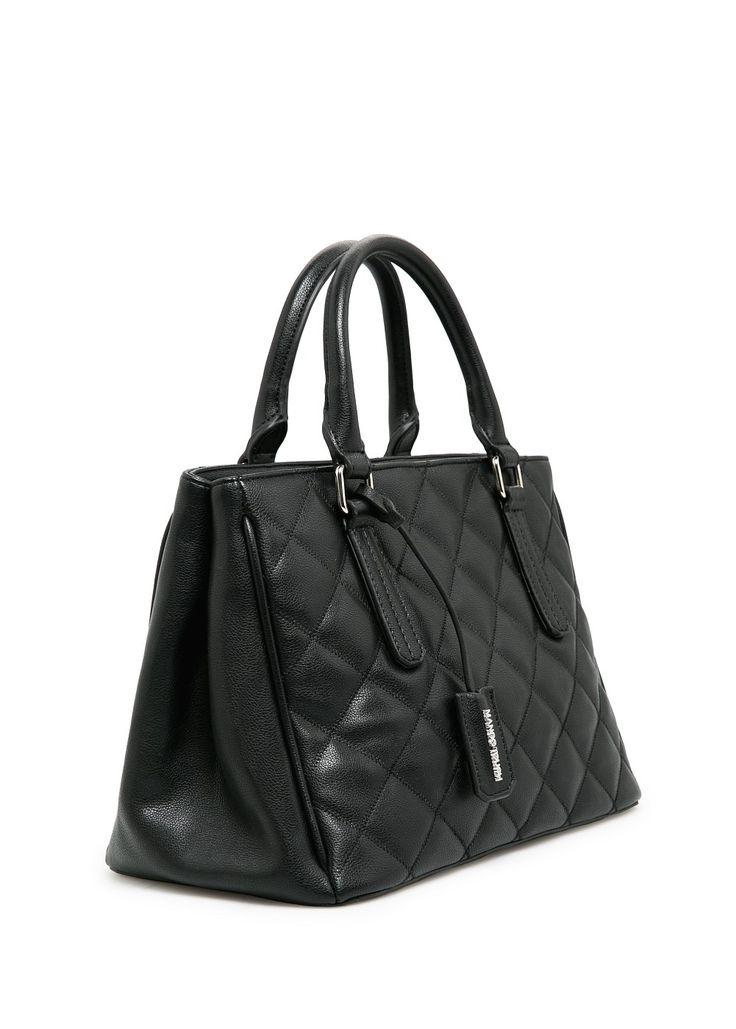 Вместительная стёганая сумка
