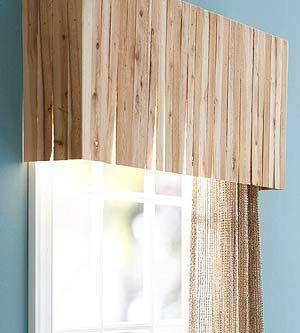 Valance - nail pine shims or wood paint stir sticks