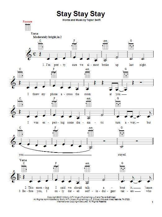 Enchanted Taylor Swift Uke Chords