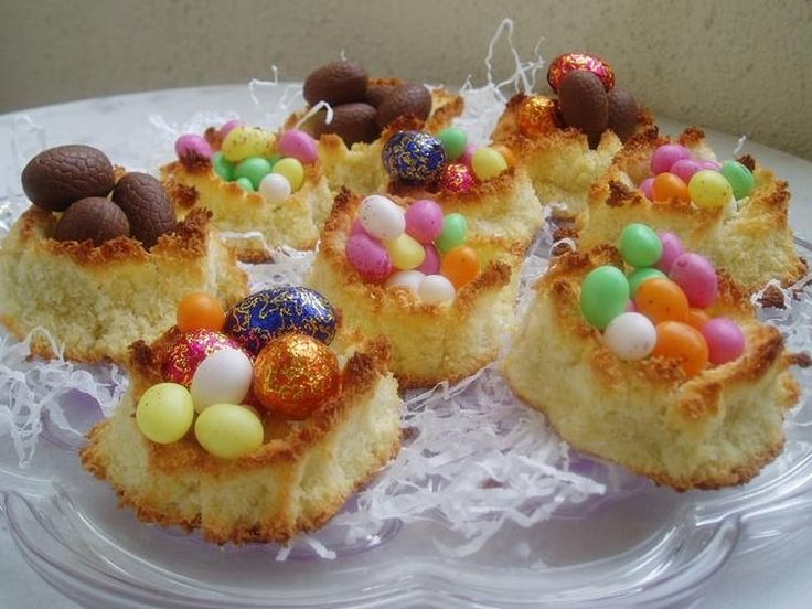 Petits nids de Pâques à la noix de coco