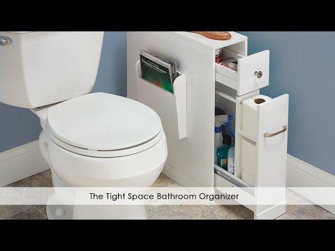 Tight Space Bathroom Organizer Hammacher Schlemmer Razdvizhnye