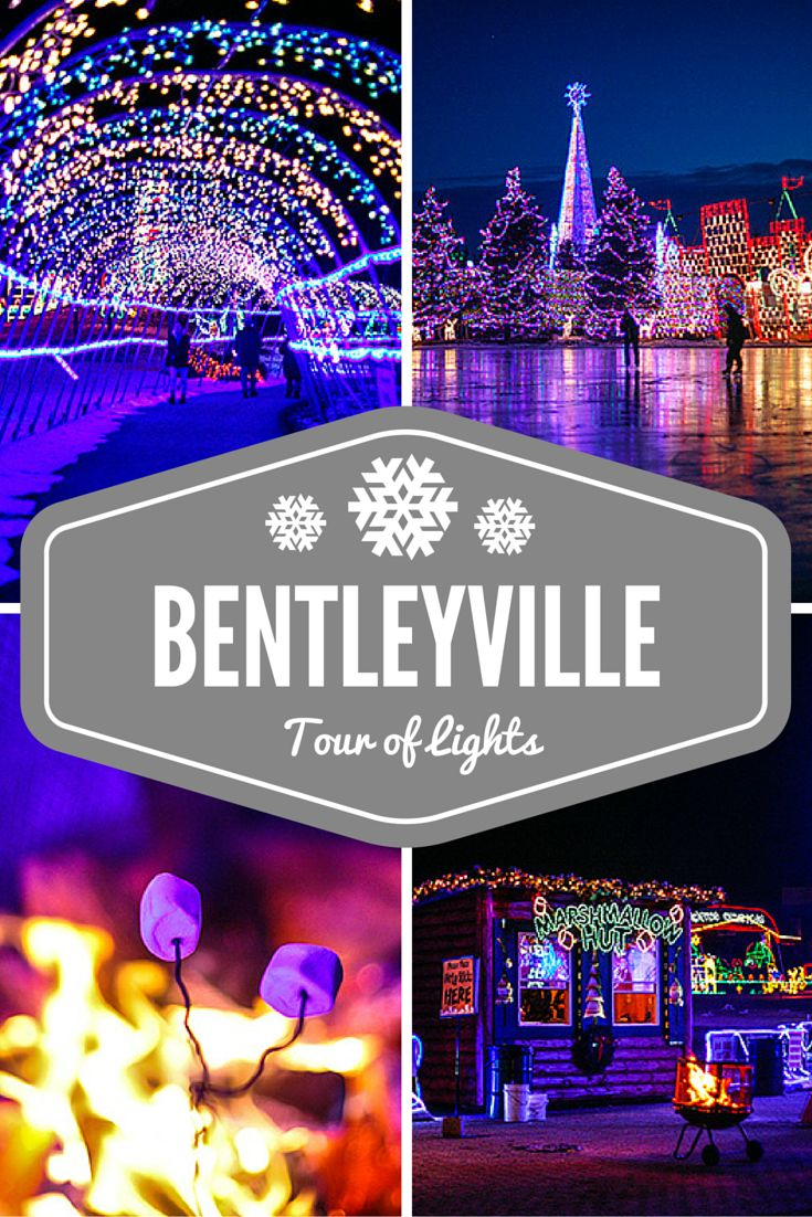 Bentleyville Tour of Lights in Duluth, Minnesota is a Christmas event at Bayfront Park full of lights, treats and holiday cheer! | http://wanderthemap.com/2014/12/bentlyville-tour-of-lights-ice-skating-bayfront-park/