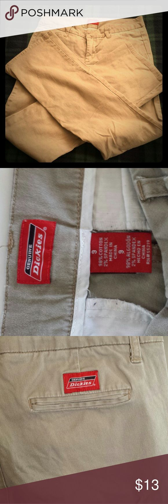 SALE! Girl's Dickies Khaki Pants size 9 Junior Excellent shape! No wearing! No stains or tears or fraying. Great for school uniforms! Dickies Pants