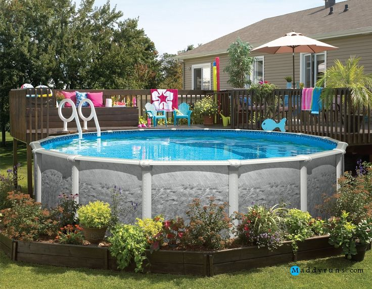 The 25 Best Above Ground Pool Ladders Ideas On Pinterest Deck With Above Ground Pool Intex