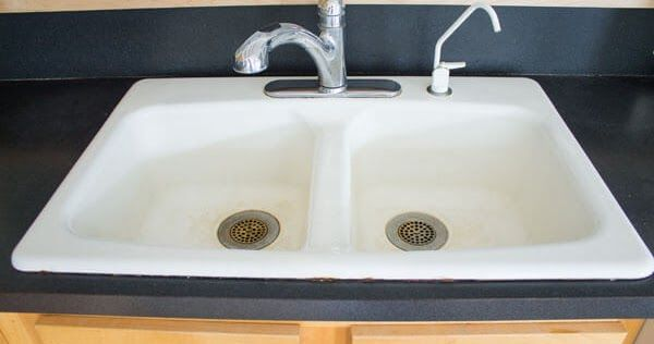 How To Clean An Enameled Cast Iron Kitchen Sink Cast Iron Sink
