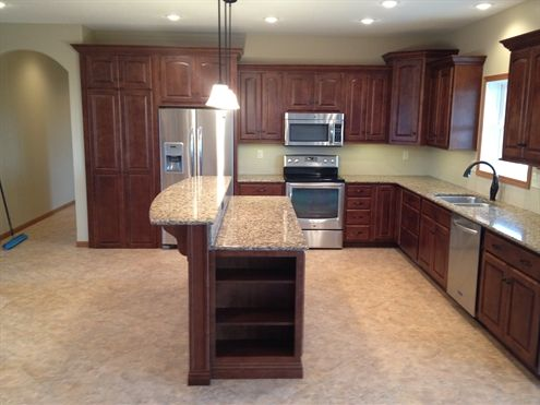 dream kitchen!!  That's actually a walk-in pantry to the left of the fridge!!