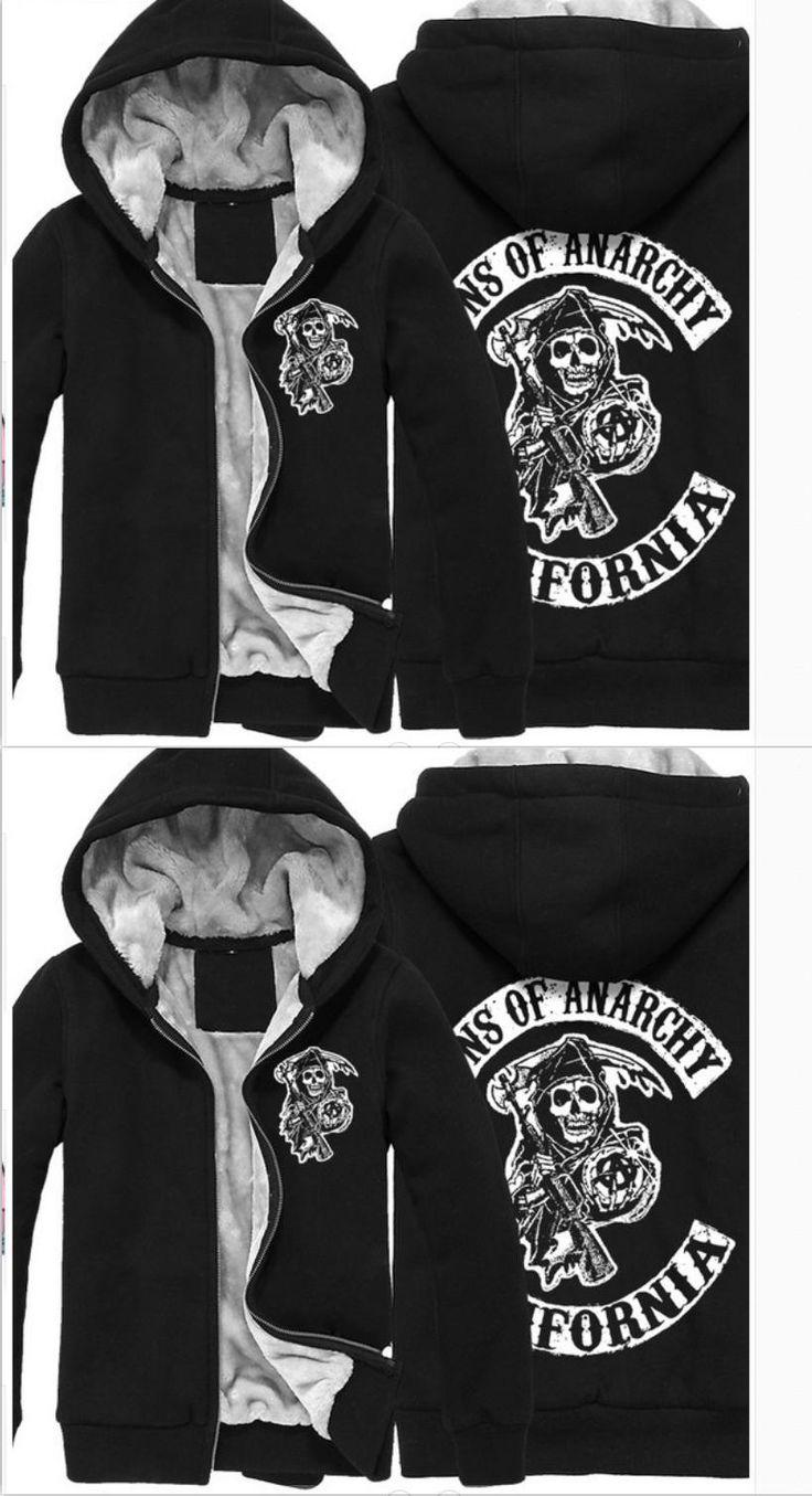 Sons Anarchy Samcro Jax Spring Summer Print Jacket Coat Thicken Sweaterwear US EU Size Plus Size S-6XL 4 Colour #3