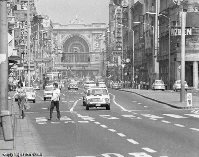 Rákoczi út Budapest 1980