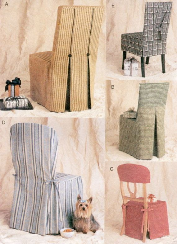 Chair cover sewing pattern 5 vogue seat covers oop for Furniture covers patterns